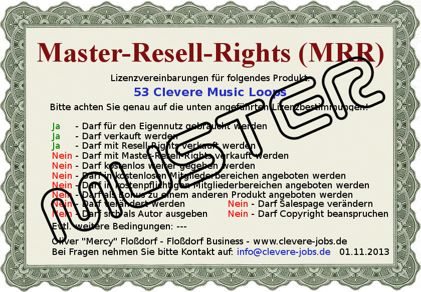 MRR-Lizenz53ClevereMusicLoopsMuster