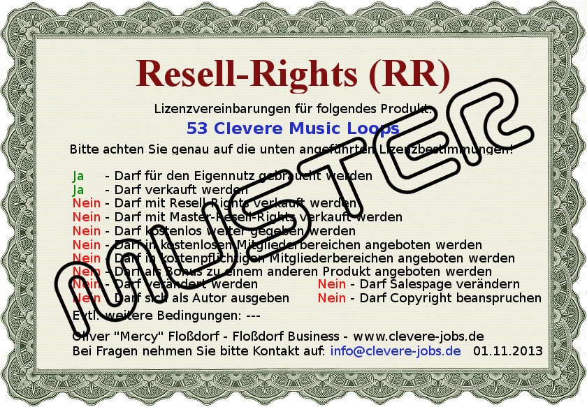 RR-Lizenz53ClevereMusicLoopsMuster